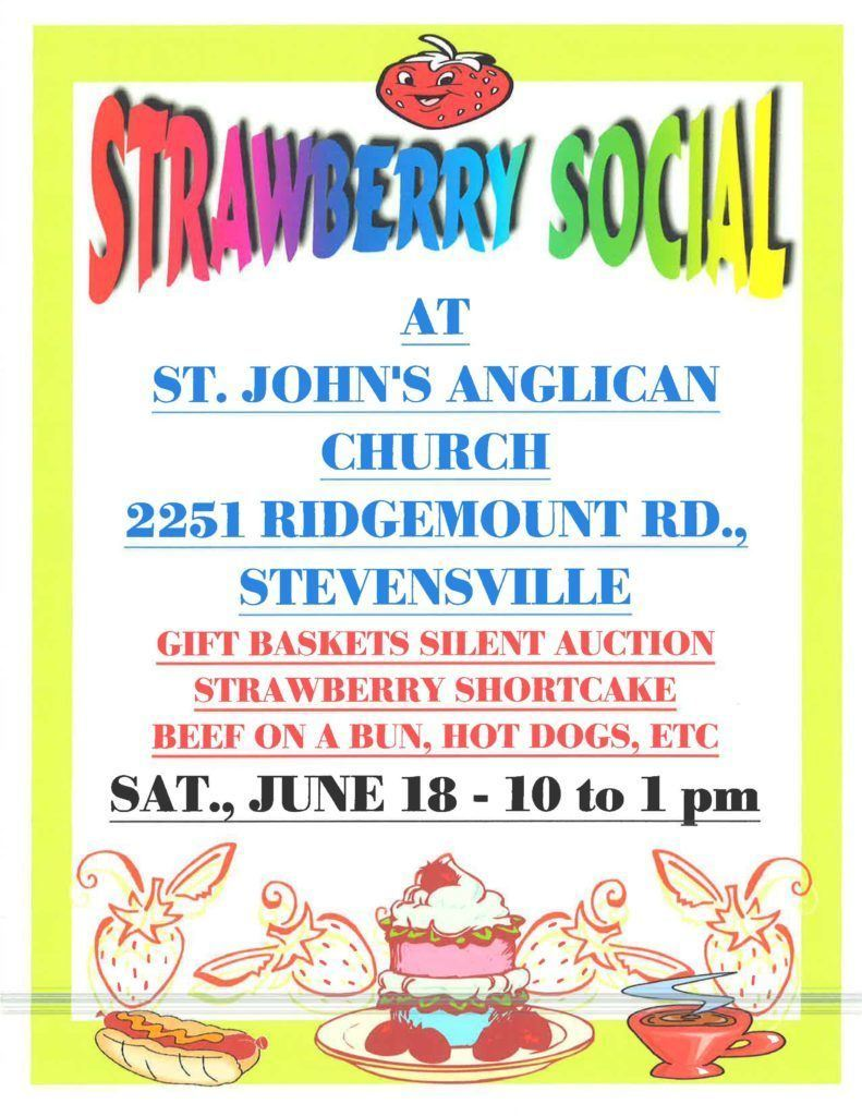 Annual Strawberry Social at St John Ridgemount
